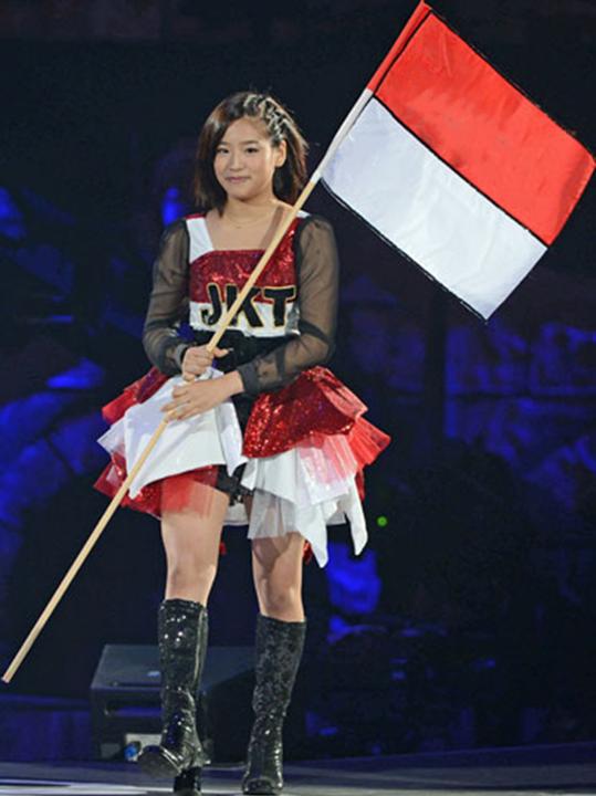 Haruka JKT48 Indonesian Flag