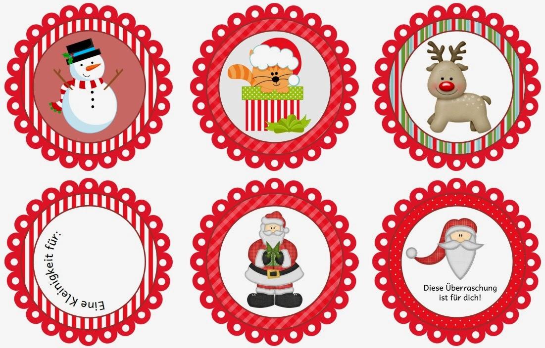 Kleine Weihnachtsbilder.Ideenreise Blog Anhänger Für Geschenkesäckchen