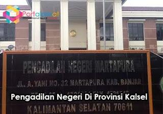 Alamat Pengadilan Negeri Di Kalsel