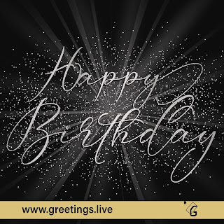 Sparkling happy birthday wishes greetings Live