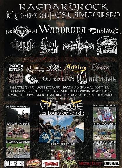 Ragnard Rock Fest 2015 @Simandre-sur-Suran 17, 18 & 19/07/2015
