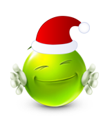 Christmas Smiley Icon 4