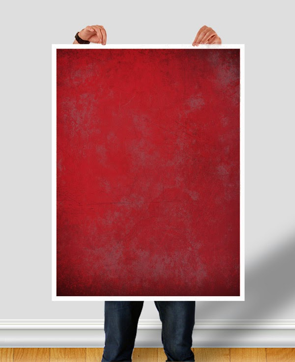 Download Poster Mockup Terbaru Gratis - MAN HOLDING POSTER PSD BY CM96