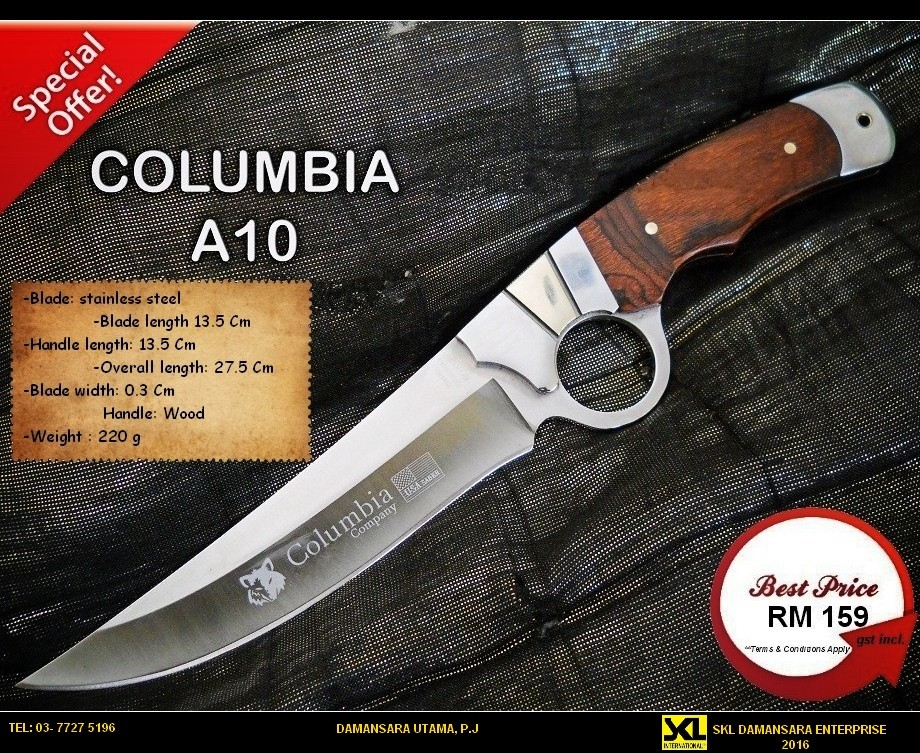 Columbia USA Ring Saber A10 with Fabric sheath @ RM 159 Only.
