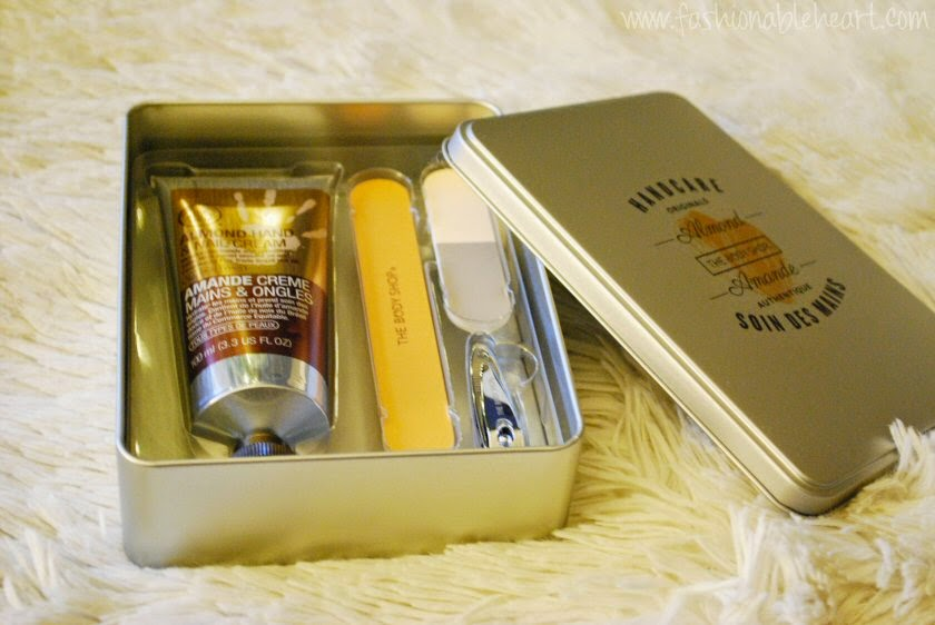 the body shop almond handcare manicure set christmas gifts