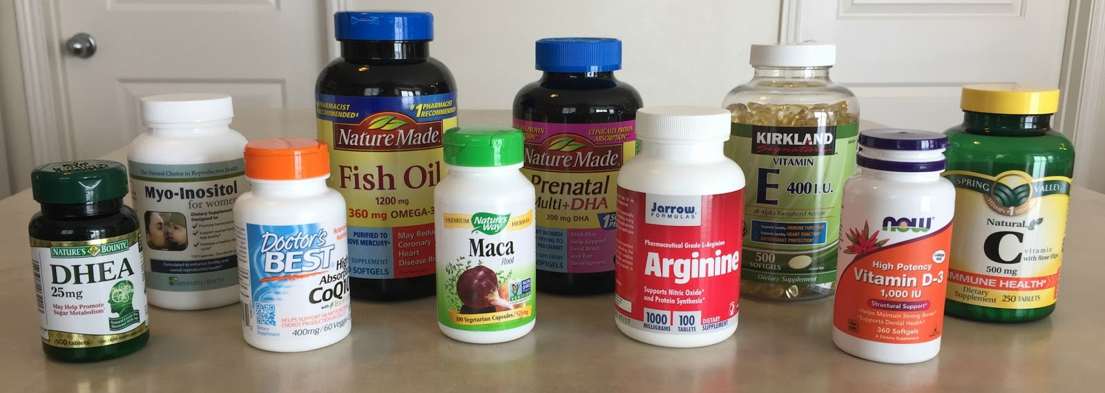 supplements taken during IVF