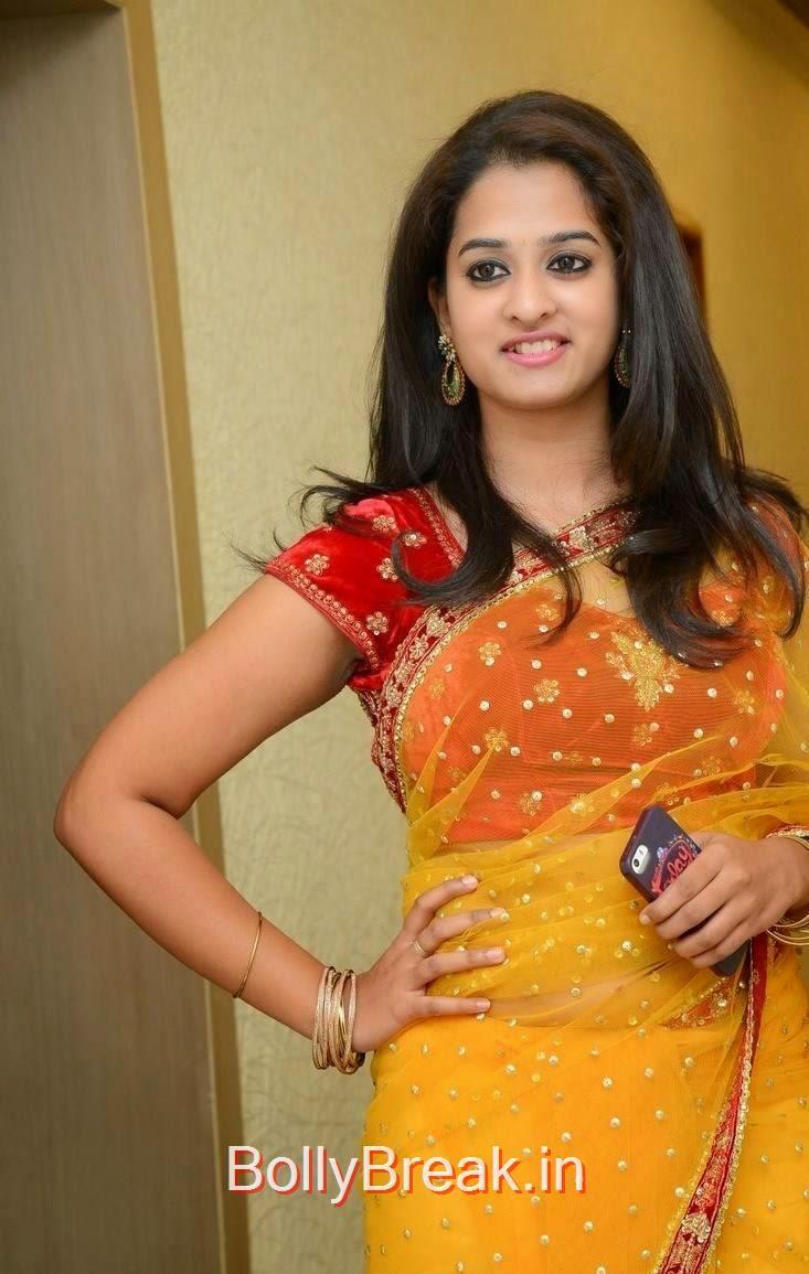 Telugu Actress Nanditha, Actress Nanditha Yellow Saree Navel pics in HD from Ram Leela Movie