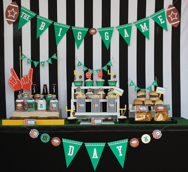a spoonful of happy sport themed party. Black Bedroom Furniture Sets. Home Design Ideas