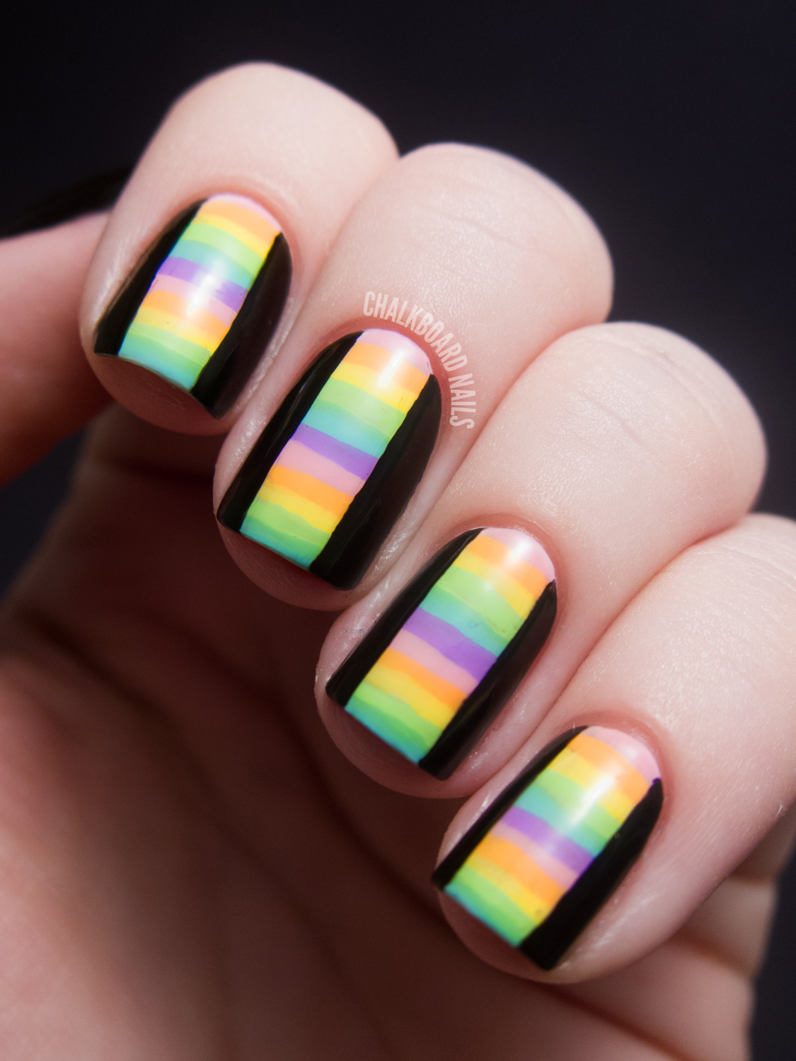 31dc2012 Day 10 Gradient Nails: 31DC2012: Day 12, Stripes