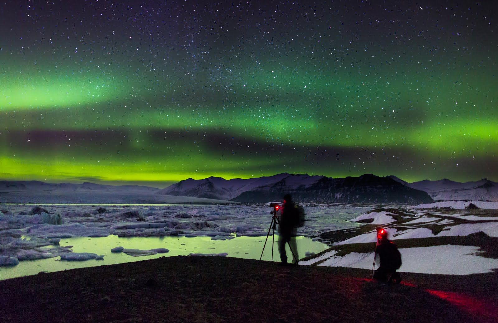 Chasing Northern Lights in Iceland