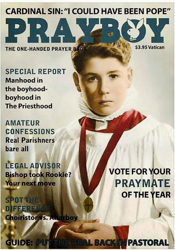 Funny Prayboy Magazine Picture