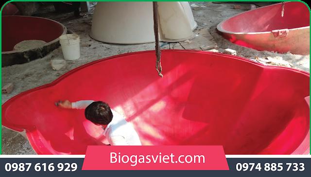 công trình xây dựng hầm biogas