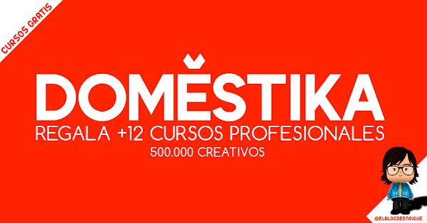 DOMESTIKA regala +12 cursos por los 500k creativos registrados.
