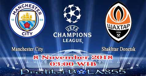 Prediksi Bola855 Manchester City vs Shakhtar Donetsk 8 November 2018