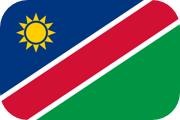 Rounded flag of Namibia