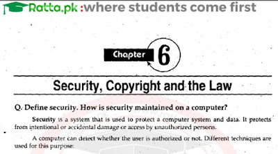 1st Year Computer Science Chapter 6 Notes pdf - ICS Part 1