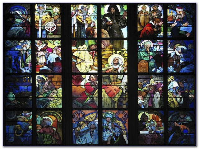 Stained GLASS WINDOW Film Religious for sale UK