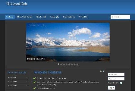 Free TK General Dark Joomla 2.5 Template