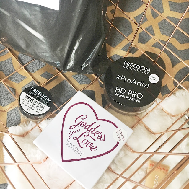 Huge Makeup Revolution and Freedom Makeup haul including a free £25 mystery gift! #bbloggers #makeup #haul