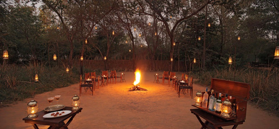 The Outdoor Fireplace, Sherbagh, Ranthambore