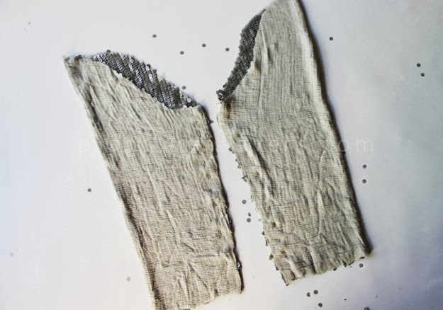 Pullu Kumaştan Abiye Bolero Dikimi - Resimli Anlatım 8