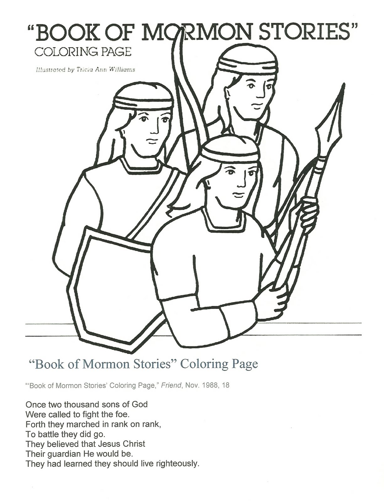 Mormon Coloring Pages. Gallery Of Lds Faith Clipart Clipart Kid With ...