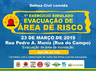 1º Exercício Simulado Evacuação de Área de Risco em Eldorado