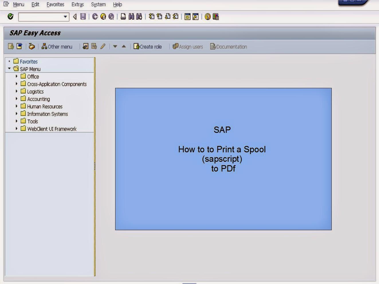 青蛙SAP分享 Learning & Examination: Print a Spool to PDF
