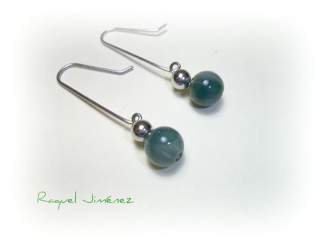 pendientes verde jade