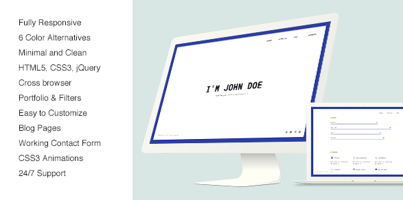 Glitche Responsive Html VCard Resume CV Template Free Download