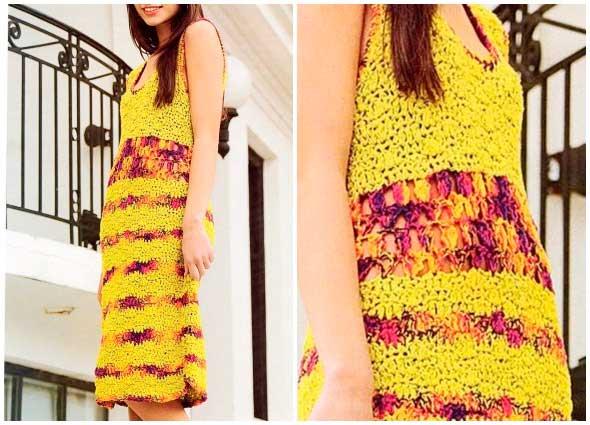 vestido, tejido, ganchillo, crochet, calado