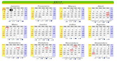 calendario completo com todos os feriados do ano