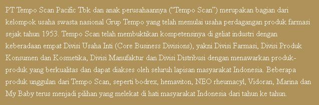 5 Lowongan Kerja PT Tempo Scan Pacific Tbk Terbaru 2019