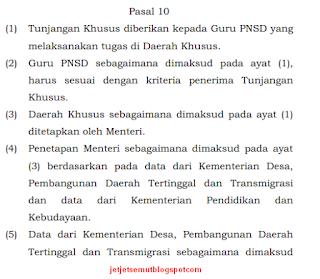daftar dan data nama guru yang menerima tunjangan khusus