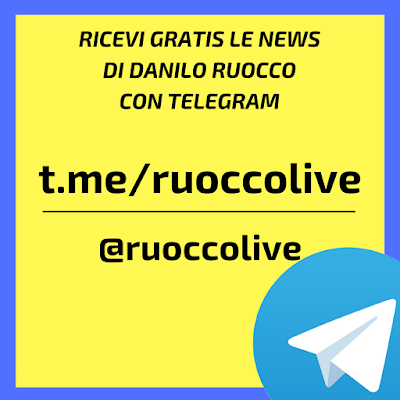 Ricevi le news di Danilo Ruocco con Telegram