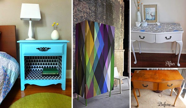 Do It Yourself Furniture Ideas: 25 Cool DIY Furniture Makeovers With Wallpaper
