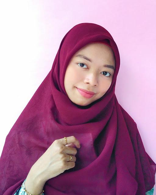 cara pakai hijab segiempat