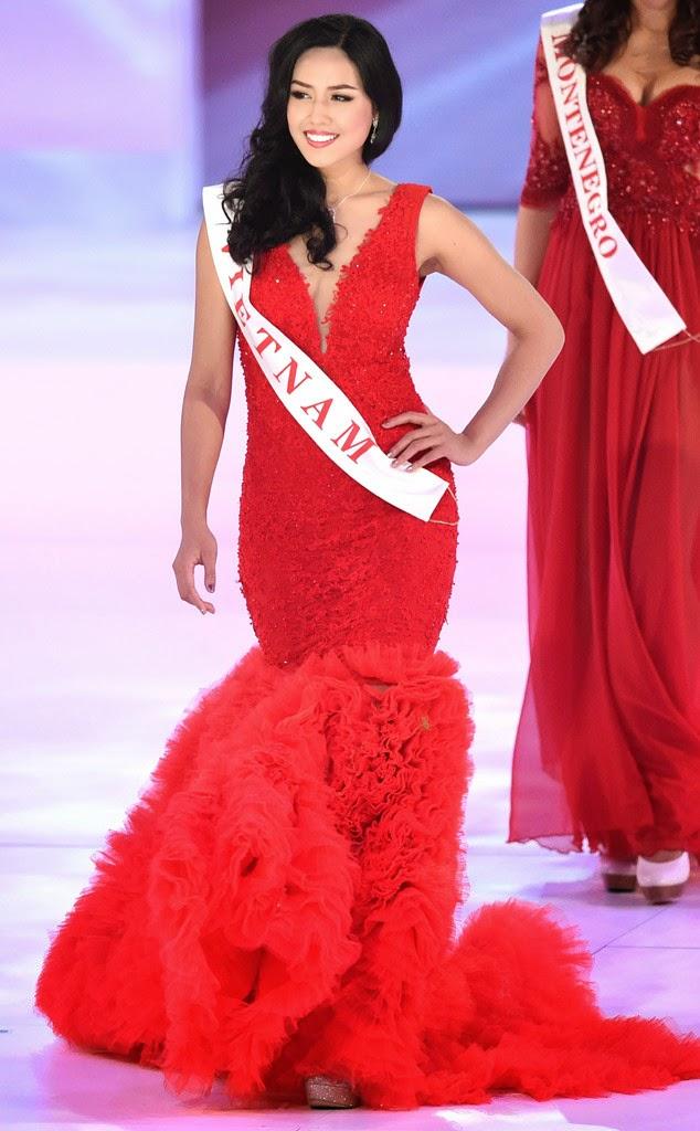 Thi Miss World nên mặc váy màu gì? Vietnam