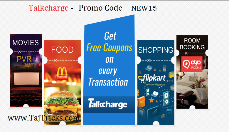talkcharge Rs15 cashback on recharge of Rs30