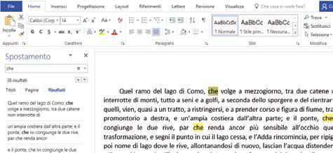 Come trovare e sostituire testi in Word