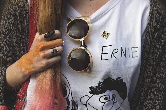 Kurt Cobain, Black Mandala and Pink Hair OOTD