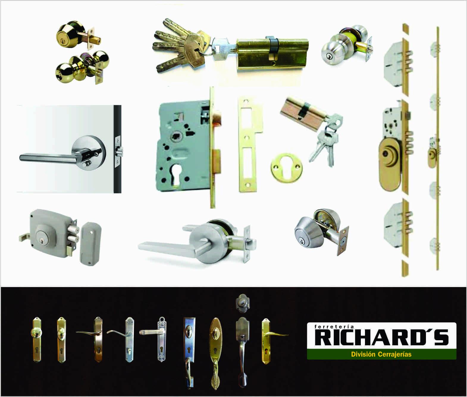 Tipos de cerraduras para puertas ferreter a richard s for Tipos de llaves de puertas
