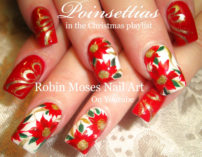 Nail Art by Robin Moses: Detailed Christmas Nails | Plaid + ...