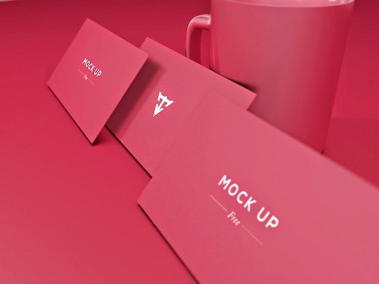 Mockups diseños tarjetas de presentación