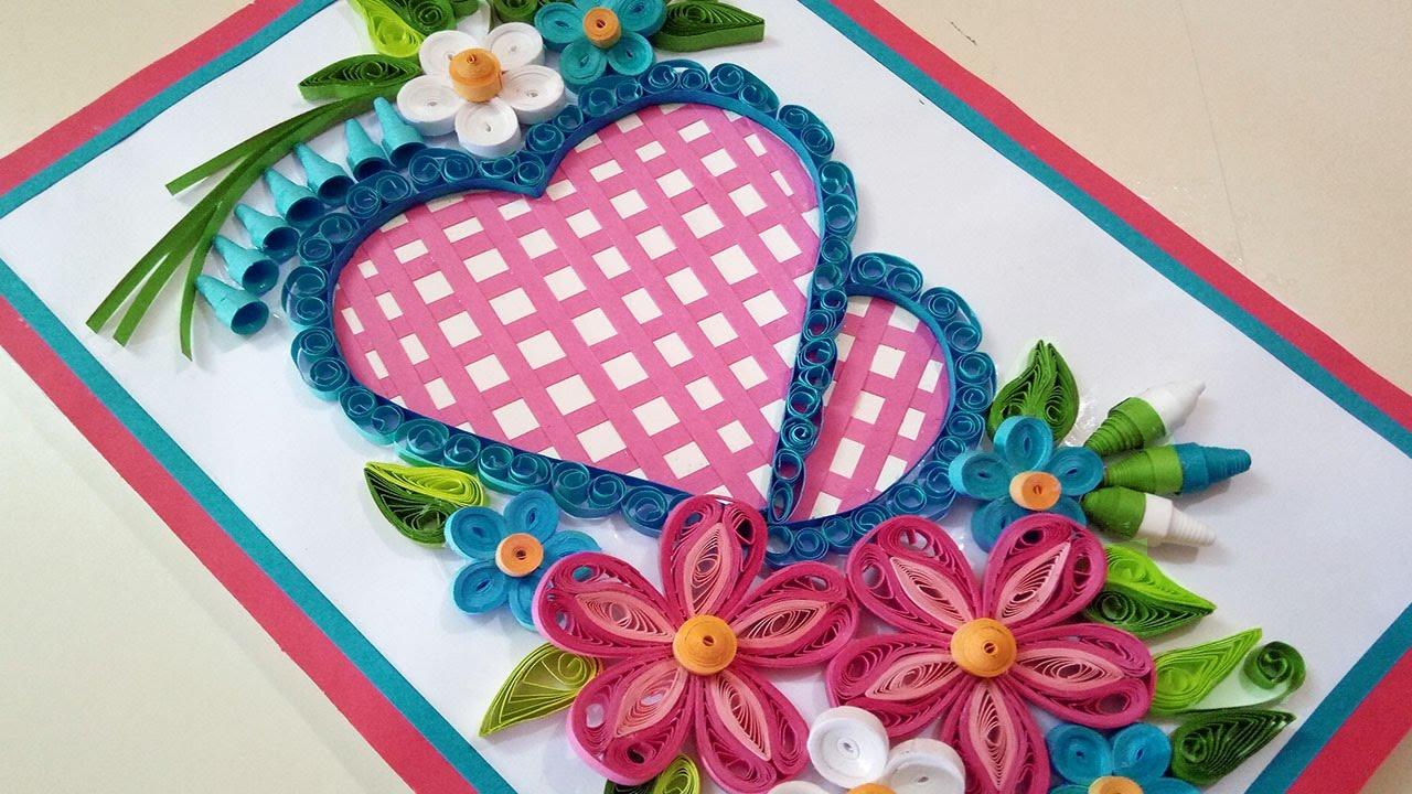 Diy beautiful heart shaped greeting card paper quilling diy beautiful heart shaped greeting card m4hsunfo