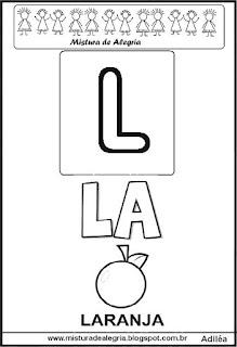 Cartaz das famílias silábicas do L