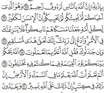 Tafsir Surat Al-Hajj Ayat 66, 67, 68, 69, 70