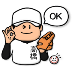 Baseball sticker for Takahashi :FRANK
