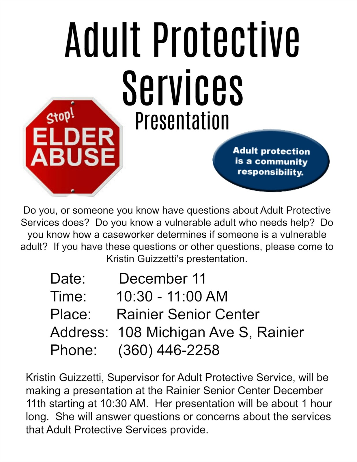 services Adult protective