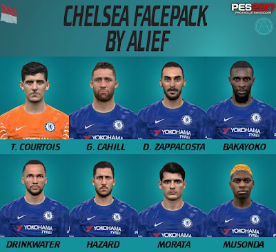 PES 2017 Chelsea Facepack by Alief